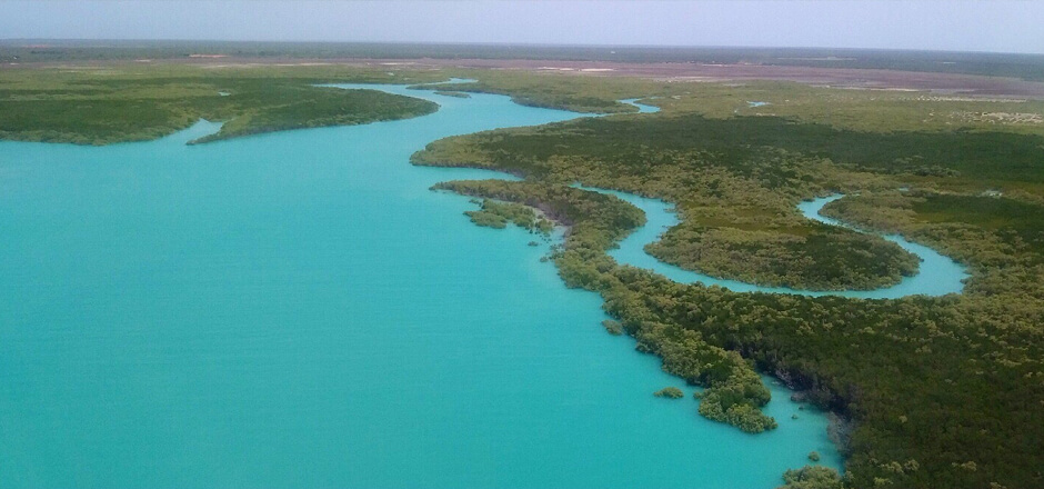Winding rivers thread through the Lurujarri Heritage Trail, Broome.
