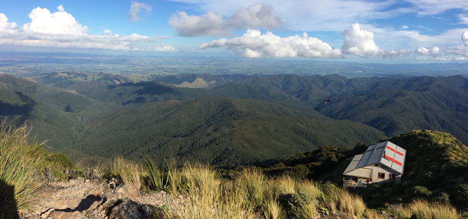 Look out over New Zealand's Mount Holdsworth on your travels with Simply Trekking.