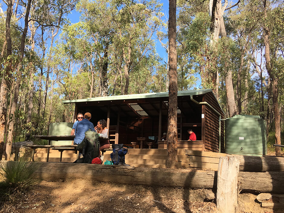 Relaxing at Hewitts Hut Kalamunda National Park