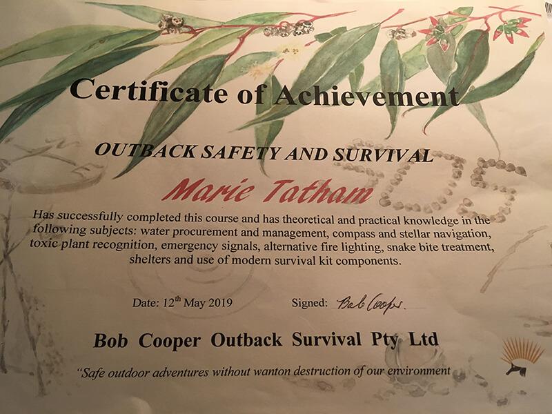 Bob cooper survival certicate