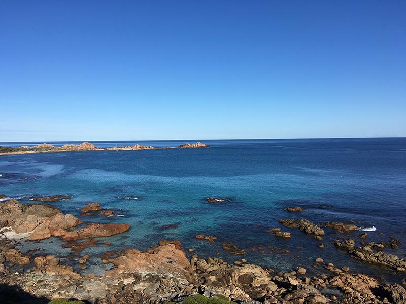 Crystal clear rocky bay