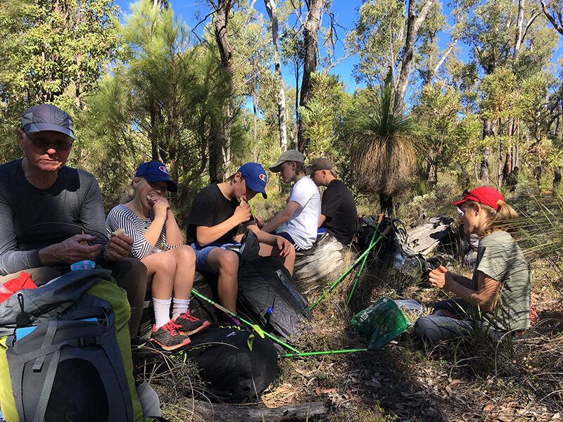 May 20 overnight guide trek on bibbulmun track with family 1