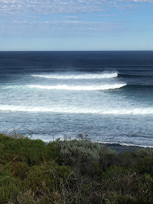 Perfect surfing waves