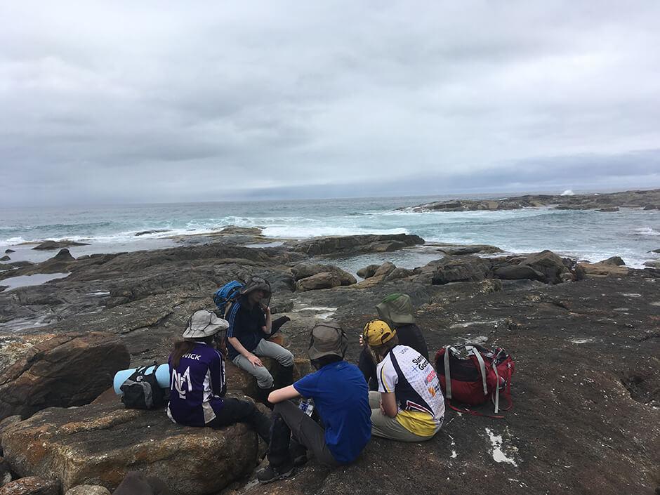 Teen Duke of Edinburgh 4 day trek at Peaceful Bay