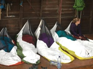 Ultralight sleeping cocoons used by Duke of Edinburgh Award five Teens in the shelter on the Bibbulmun Track