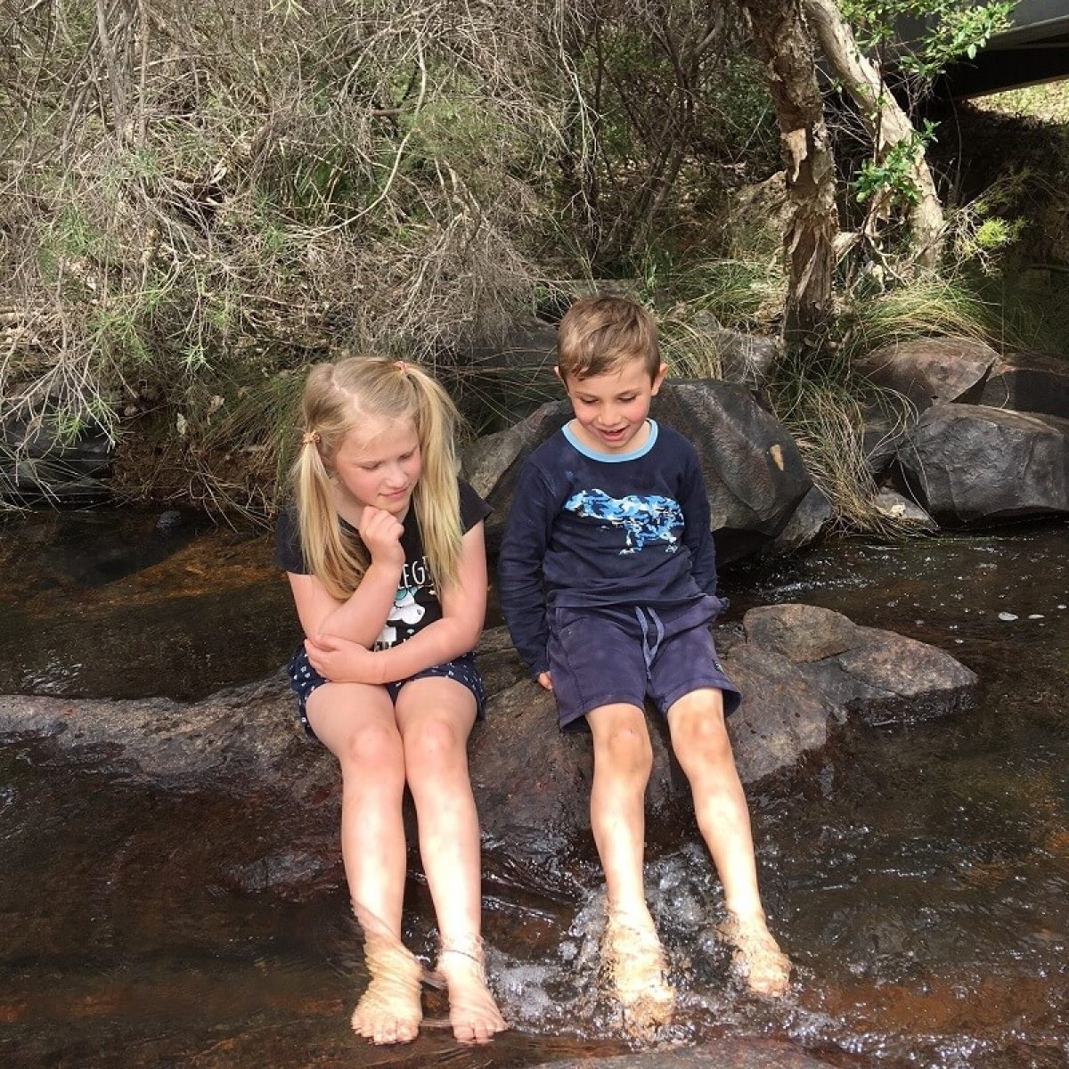 John Forrest National Park stream fun for families