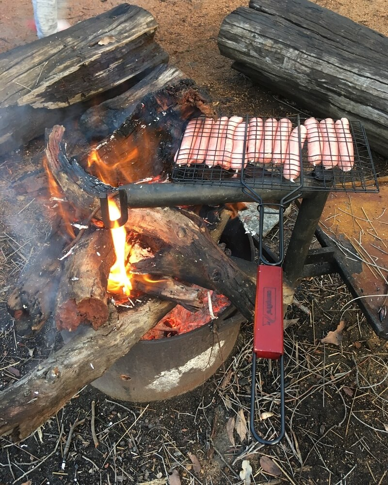 Campfire cooking on the Bibbulmun Track