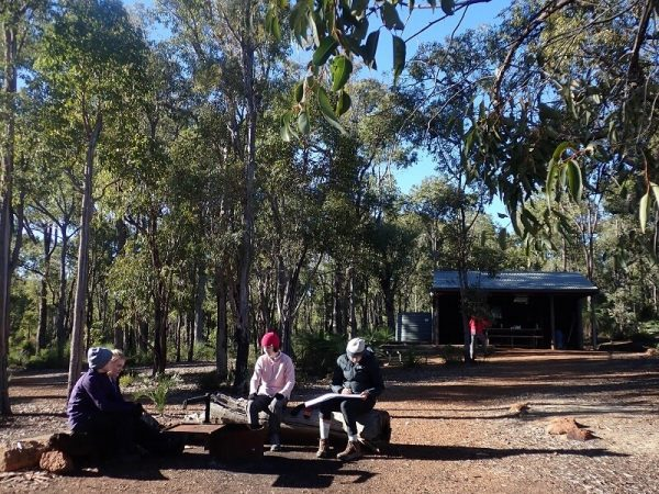 Early morning at camp on the Bibbulmun Track
