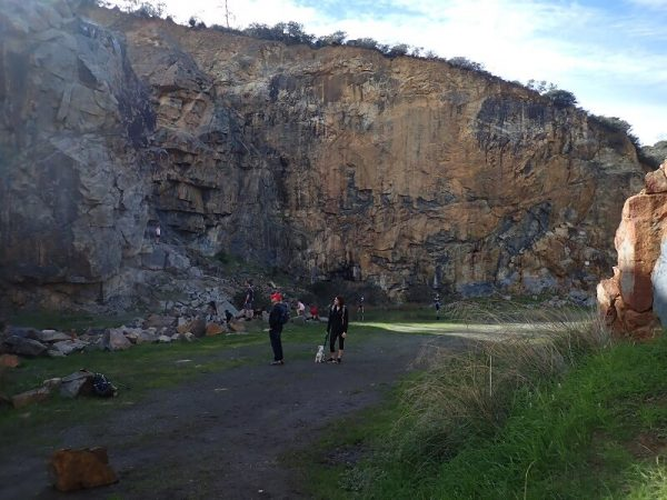 Ellis Brook quarry on Simply Trekking's family day walk