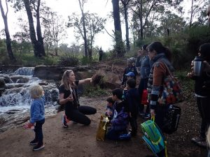 Family day walk for toddlers on Lesmurdie Brook