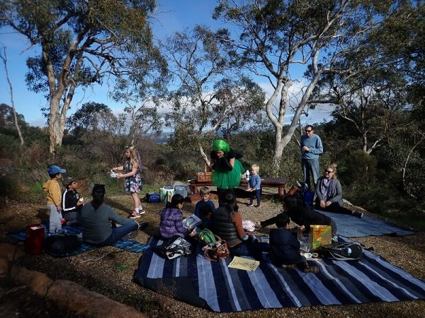 Family day walk with fairies at Lesmurdie Brook
