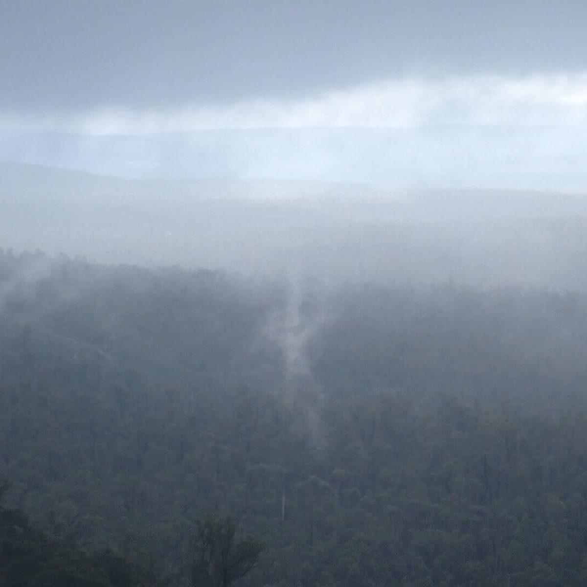 Mist over Mt Cuthbert Darlling Scarp Bibbulmun Track